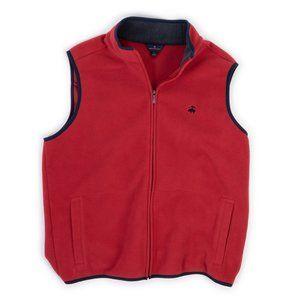 Brooks Brothers red fleece vest size L